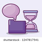 folder with hourglass and... | Shutterstock .eps vector #1247817541