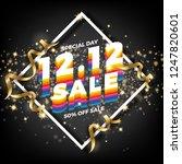 12.12 shopping day sale banner... | Shutterstock .eps vector #1247820601