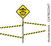 toxic safety sign icon vector... | Shutterstock .eps vector #1247822347