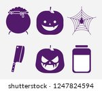 halloween celebration set icons | Shutterstock .eps vector #1247824594