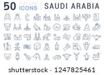 set of vector line icons of... | Shutterstock .eps vector #1247825461