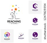 set of reaching stars logo... | Shutterstock .eps vector #1247825554