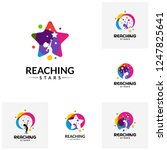 set of reaching stars logo... | Shutterstock .eps vector #1247825641