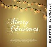 merry christmas glowing... | Shutterstock .eps vector #1247826364