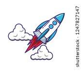 rocket start up icon   Shutterstock .eps vector #1247827147
