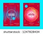 electronic music banner. techno ... | Shutterstock .eps vector #1247828434