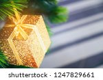 decorated christmas tree with...   Shutterstock . vector #1247829661