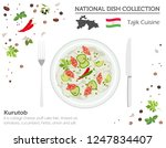 tajik cuisine. asian national... | Shutterstock .eps vector #1247834407
