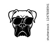 boxer dog wearing sunglasses  ... | Shutterstock .eps vector #1247838541
