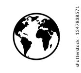world planet earth icon | Shutterstock .eps vector #1247838571