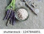 bath salt and fresh lavender... | Shutterstock . vector #1247846851
