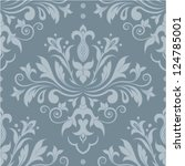 damask seamless pattern for... | Shutterstock .eps vector #124785001