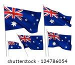 australia vector flags set. 5... | Shutterstock .eps vector #124786054