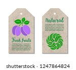 vegetable tags with plum  salad ... | Shutterstock .eps vector #1247864824