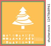 christmas tree solid icon set ... | Shutterstock .eps vector #1247868961