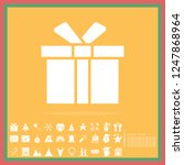 christmas gift solid icon set ... | Shutterstock .eps vector #1247868964