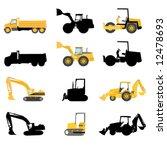 construction machines vector | Shutterstock .eps vector #12478693