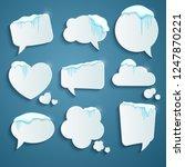 set of various speech bubbles... | Shutterstock .eps vector #1247870221