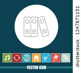 very useful vector line icon of ... | Shutterstock .eps vector #1247871151