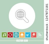 very useful vector line icon of ... | Shutterstock .eps vector #1247871181