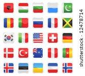 set of flags vector 2   Shutterstock .eps vector #12478714