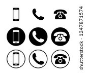 telephone icons. phone icon... | Shutterstock .eps vector #1247871574