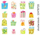 cute gift box vector | Shutterstock .eps vector #12478720