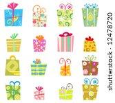 cute gift box vector | Shutterstock .eps vector #12478720