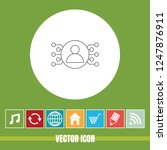 very useful vector line icon of ... | Shutterstock .eps vector #1247876911