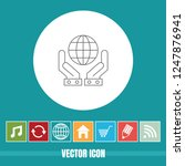 very useful vector line icon of ... | Shutterstock .eps vector #1247876941