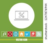 very useful vector line icon of ... | Shutterstock .eps vector #1247876944