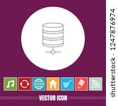 very useful vector line icon of ... | Shutterstock .eps vector #1247876974