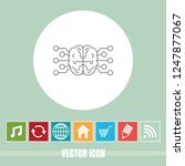 very useful vector line icon of ... | Shutterstock .eps vector #1247877067