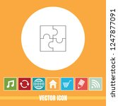 very useful vector line icon of ... | Shutterstock .eps vector #1247877091