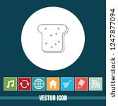 very useful vector line icon of ... | Shutterstock .eps vector #1247877094
