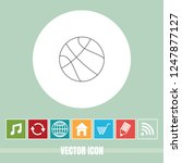 very useful vector line icon of ... | Shutterstock .eps vector #1247877127