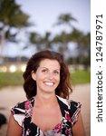 natural  pretty woman walking...   Shutterstock . vector #124787971