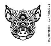 ornamental decorative pig... | Shutterstock .eps vector #1247883121