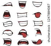a set of cartoon mouths for you ... | Shutterstock .eps vector #1247884087