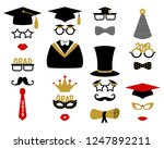 photo booth props for... | Shutterstock .eps vector #1247892211