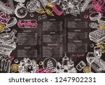 christmas happy holiday layout... | Shutterstock .eps vector #1247902231