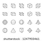 geometric shapes flat line... | Shutterstock .eps vector #1247903461