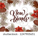 holiday vintage design for card.... | Shutterstock .eps vector #1247905651