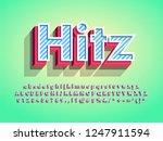 modern 3d hitz logo type for... | Shutterstock .eps vector #1247911594