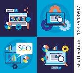 search engine optimization | Shutterstock .eps vector #1247913907