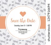 save the date card | Shutterstock .eps vector #1247916694