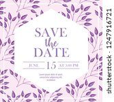 save the date card | Shutterstock .eps vector #1247916721