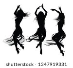 group of  girls  dancing and... | Shutterstock .eps vector #1247919331