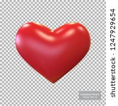 red heart isolated  vector... | Shutterstock .eps vector #1247929654