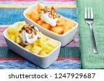 two modern rectangular ceramic... | Shutterstock . vector #1247929687